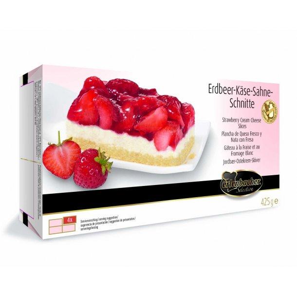 Jordbær-oste-fløde snitte glutenfri/laktosefri (9 x 4 stk (425 gr) )