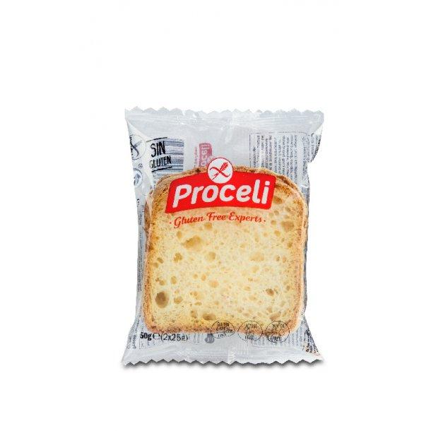 Toastbrød glutenfri portionspakket 50 gr