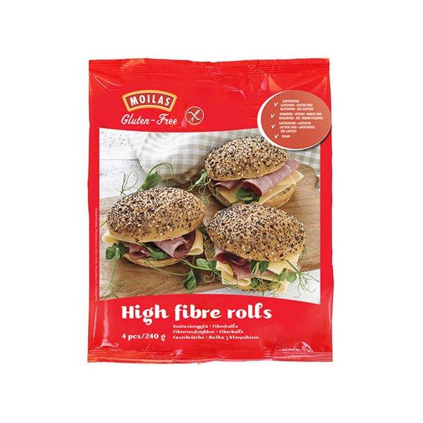 Glutenfri høj fibre boller (4 x 60 gr) OBS: SENDES IKKE MED FRAGTMAND - KUN AFHENTNING I RIBE