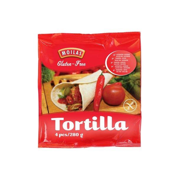 Glutenfri Tortilla 21,5 cm (4 x 70 gr) OBS! FROSTPRODUKT SENDES IKKE MED FRAGTMAND