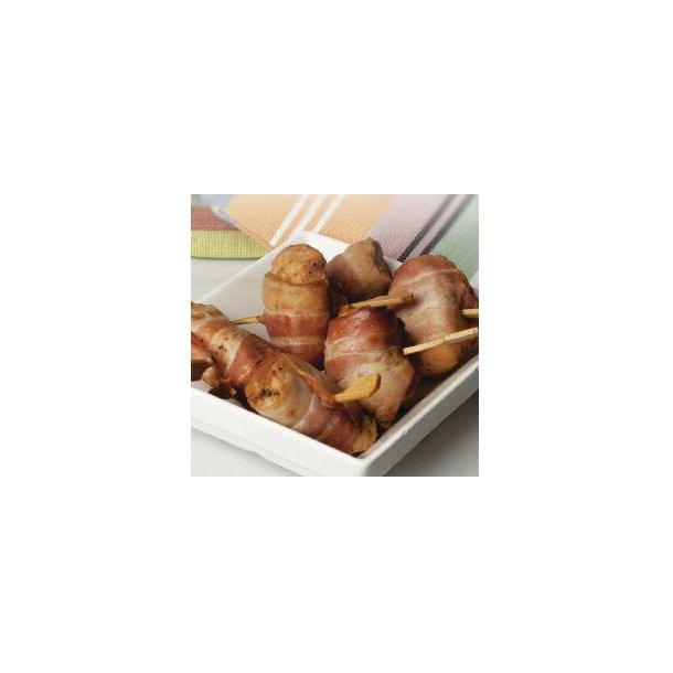 Tapas Kyllingespyd viklet med bacon, 75x20 gr./krt