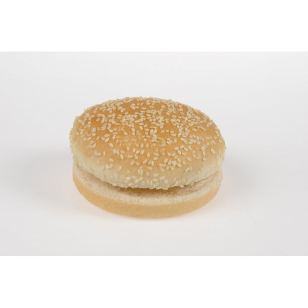 Hamburger bolle, skåret 5x6x80 gr. krt.