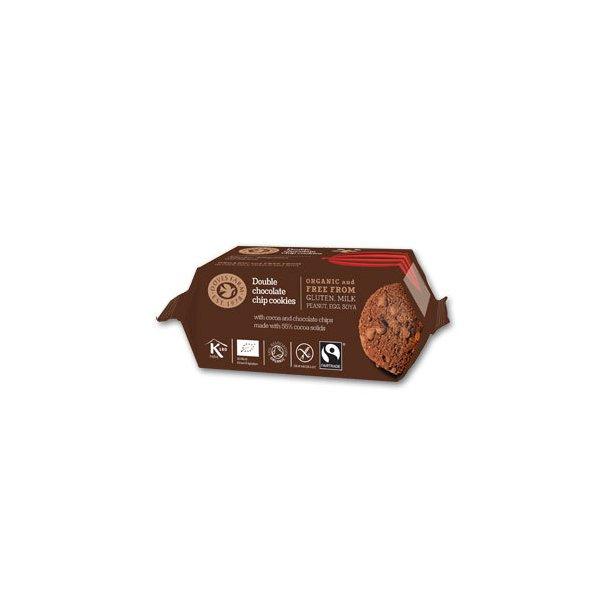 Dobbelt chokolade cookies GF Øko - 180 gr.