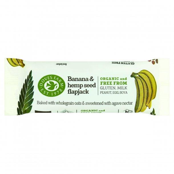 FlapJack med banan & hampefrø glutenfri, Øko - 35 gr