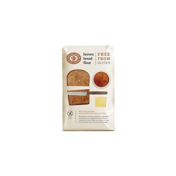 Glutenfri mørk brødmix, 5 x 1 kg.