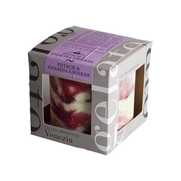 CUBO Italiensk is - Pistacio og amarena kirsebær