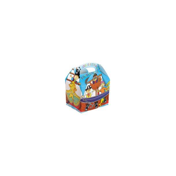 Pirat Box med legetøj 100 stk./krt.